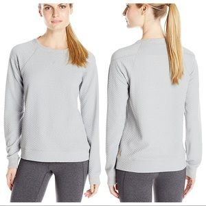 Lucy Inner Strength Quilted Pullover Heather Grey